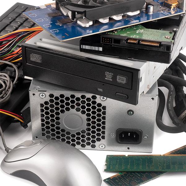 Destrucción de residuos electrónicos